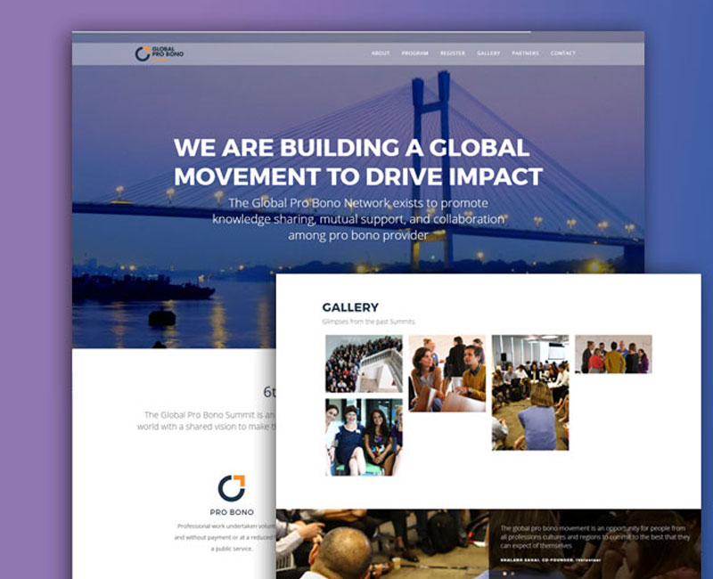Website designing for Global pro